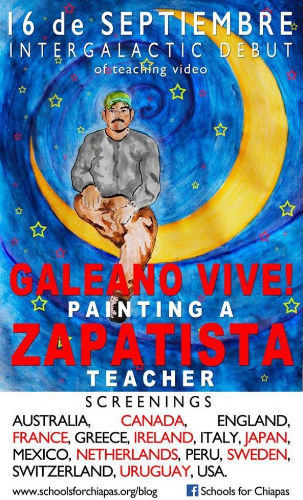Ο Γκαλεάνο Ζει! Ζωγραφίζοντας έναν Ζαπατίστα δάσκαλο